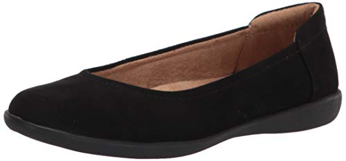 Naturalizer womens Flexy Ballet Flat, Black Leather, 10 US