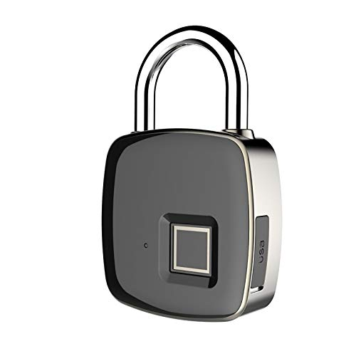 Fingerprint Padlock, Waterproof Lock, Door, Suitcase, Backpack, School, Gym, Bicycle, Office, Luggage, Keyless Travel Lock