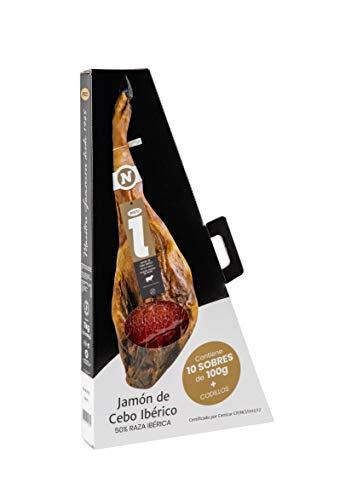PACK LONCHEADO JAMÓN DE CEBO IBÉRICO 50% raza ibérica. 10 sobres de 100 gr. Medias lonchas de intenso y exquisito sabor para un paladar gourmet.