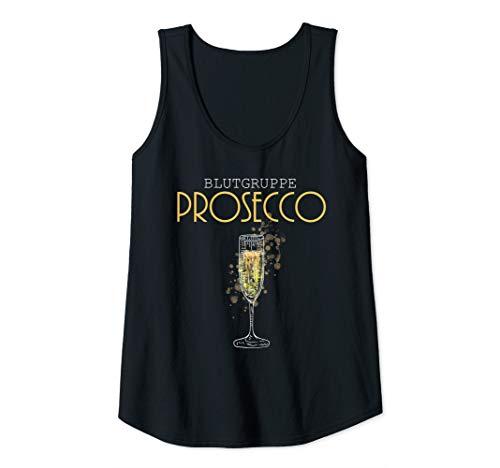 Damen Blutgruppe Prosecco   Prosecco Geschenk   Prosecco Tank Top