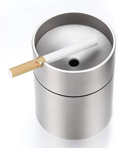 AMITD RVS auto Cup asbak met afneembaar deksel draagbare windproof smokloos auto sigarettenschacht