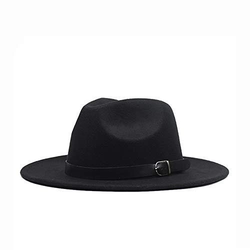 Xuguiping 2019 heren dames hoed Fedora Panamahut Jazz hoed voor volwassenen, brede randen, casual hoed, maat 56-59 cm 56-59 blue