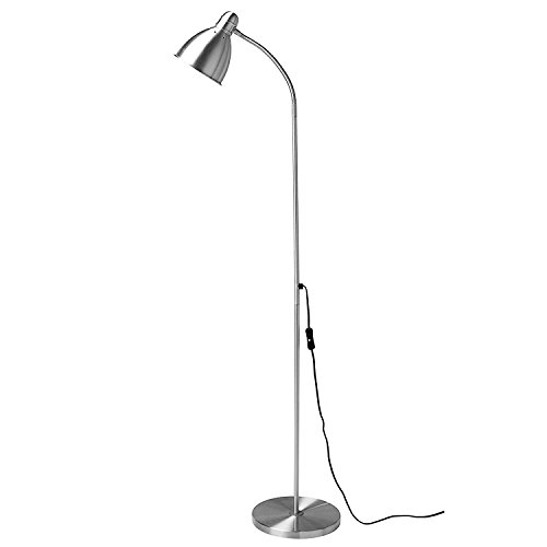 Ikea fusion-silver Kea Floor Stylish Lamp, Silver