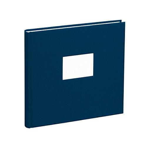 Semikolon (353519) Gästebuch mit 240 blanko Seiten marine (blau) - Gäste-Buch mit Buchleinenbezug...