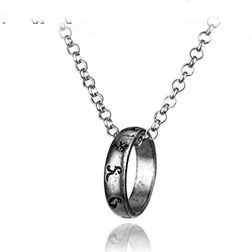 Fnito Collar Collar Cazadores de Sombras Colgante Colgante de aleación Simple Accesorios de joyería
