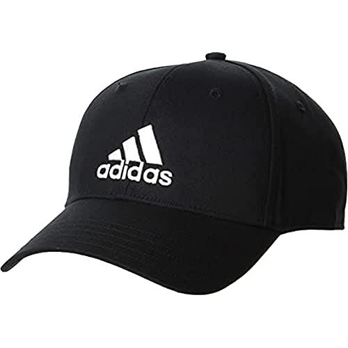 adidas Bball cap COT Cappellino, Unisex – Adulto, Black/Black/White, OSFW