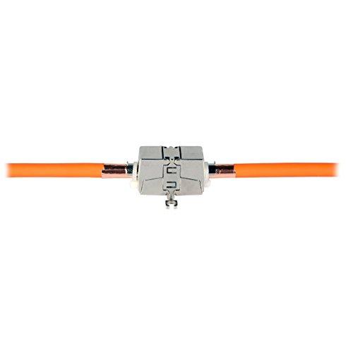 BIGtec werkzeugfreies Verbindungsmodul - Netzwerkkabel Verlängerung/Connection Box/Verbinder für CAT.5 CAT.6 CAT.6A CAT.7 Verlegekabel und Patchkabel