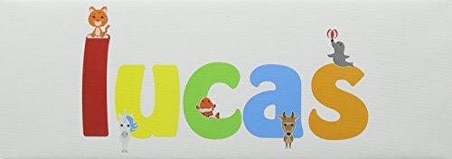 Feel Good Art Lucas Galerie enveloppé Nursery Boîte Toile avec solide Panneau avant (15 x 42 x 4 cm, petit)