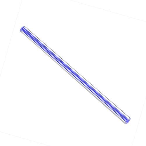 uxcell アクリル丸棒 ソリッドアクリルスクエアロッド PMMAバー ダークブルー 10mmx250mm