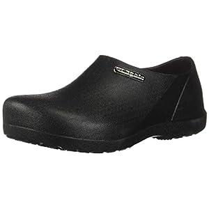 VANGELO Professional Slip Resistant Clog Men Work Shoe Nurse Shoe Chef Shoe Carlisle Black Men Size 10