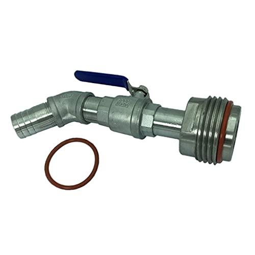 LHQ-HQ Llave de paso de la válvula de corte de esfera de tipo C Válvula de salida Válvula de bola con el interfaz del hecho de acero inoxidable for 200 litros de plástico del tambor Válvula