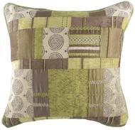 Evans Lichfield Maroc Vert et marron de qualité de style de patchwork Coussin – 17 ou 55,9 cm