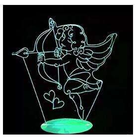 Lámpara 3D de la Diosa del Amor de la Luz de la Noche de la Ilusión de la Lámpara de 7 Cambio de Color LED Táctil USB de la Mesa de los Niños Juguetes Decoración Decoraciones