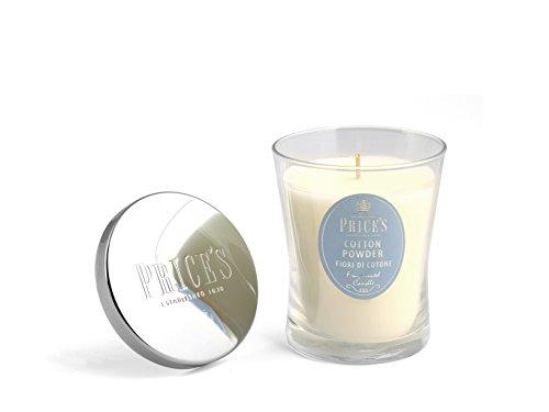 Price's Candles Duftkerze, Medium, Duft nach frisch gewaschener Wäsche, Baumwolle, Signatur-Glas, Weiß