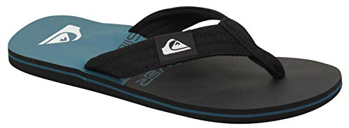 Quiksilver Men's Molokai Layback Sandal, Black/Blue Neon Stripe, 6(39) M US