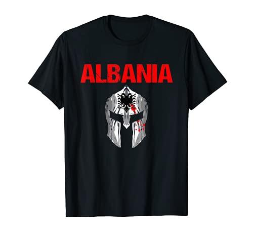 Albania Albanischer Krieger Albanien Flagge Balkan Power T-Shirt