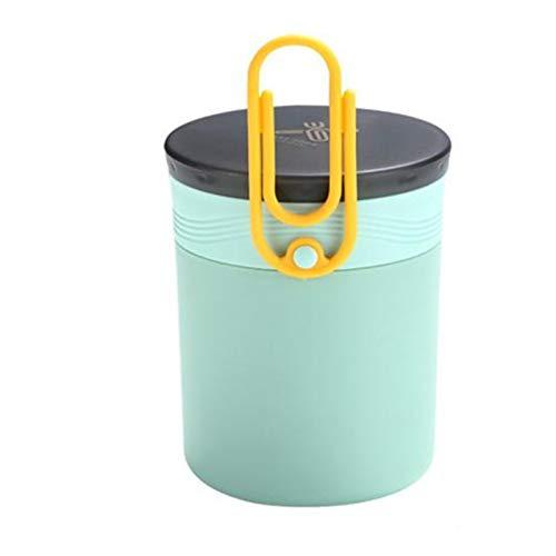 Caja De Almuerzo Aislada De Acero Inoxidable Soporte De Sopa Portátil Contenedor De Alimentos para Picnic School Oficina Termo De La Taza De Sopa De Mano (Color : Green)