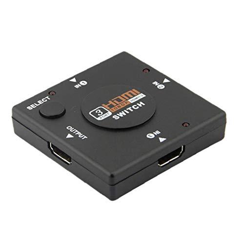 NaisiCore HDMI Switch 3 in 1 Out 4K HDMI Splitter für PS4 Xbox Apple TV Feuerstab Haushaltswaren
