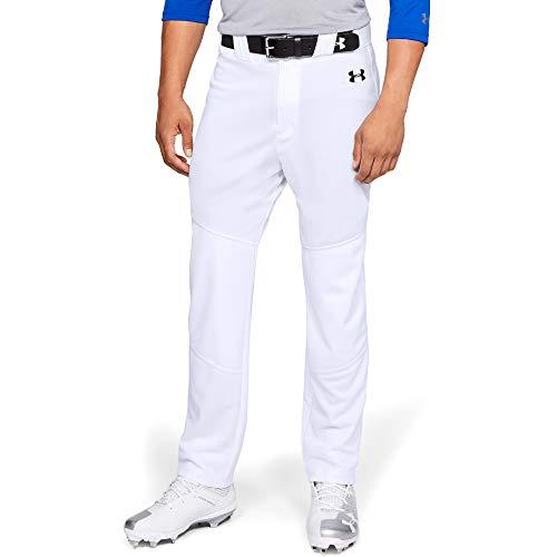 Under Armour Men's Utility Relaxed Baseball Pants , White (100)/Black , Medium