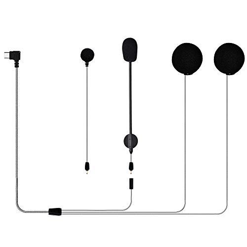 Auriculares Intercomunicador Moto Bluetooth, M1-S Plus juego para el micrófono de los auriculares bluetooth del casco de la motocicleta