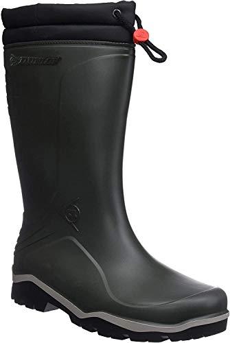 Dunlop - Blizzard - Bottes professionnelles revêtement en fourrure Vert / Noir, sans embout, en acier – K486061 - Vert - vert, 48 EU EU