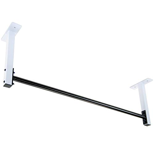 Ceiling Mount Pull Up Bar for 8' Ceilings with New for 2020 Upgraded Through-Bolt Bar Mounts