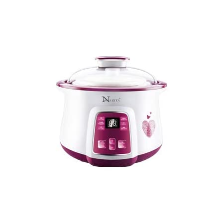 Narita Digital Electric Stew Pot 1 6l One Large Ceramic Pot 1 6 Liter And Two Small Ceramic Pot 0 4 Liter Nsq 1855 By C H Solutions Kitchen Dining