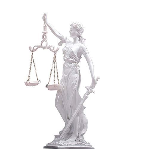 SSCYHT Estatua Dama Justicia, Escultura Diosa Romana Ley, Colección Superior del Museo, Escultura, Escultura de Resina, Accesorios de Decoración del Hogar, Manualidades de Oficina, 27 x 15 cm
