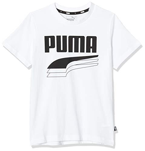 Puma Rebel Bold B, Maglietta Bambino, White, 140