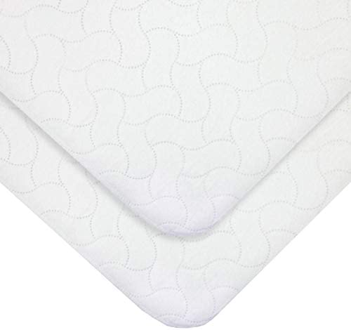 American Baby Company 2 Pack Waterproof Embossed Quilt Like Flat Multi Use Protective Pad for product image