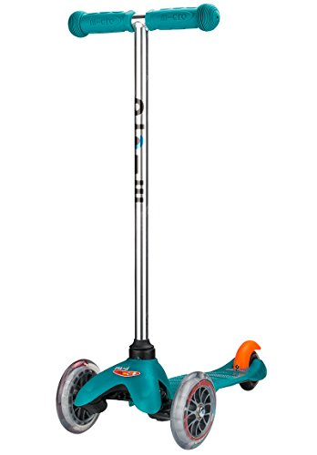 Micro Kickboard - Mini Original 3-Wheeled, Lean-to-Steer, Swiss-Designed Micro Scooter for Preschool Kids, Ages 2-5, Aqua