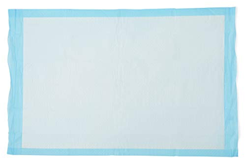 """Medline Quilted Basic Disposable Blue Underpad, 23"""" x 36"""", for Incontinence, Furniture Protection or Pet Pads, 50 Count"""