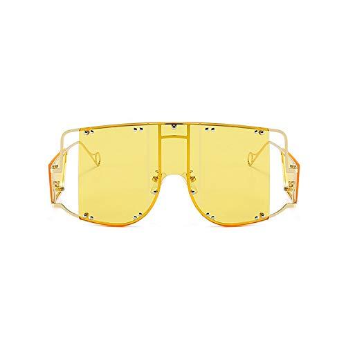 Michen mannen vrouw zonnebril een groot frame van metalen zonnebrillen Street Shot holle glazen mannen en vrouwen