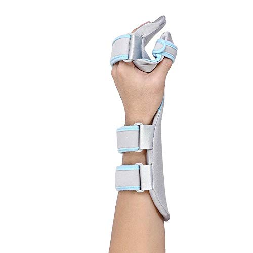 Stroke Hand Brace Support Hand Splint Soft Professional Functional Resting Hand/Wrist Separate Finger Orthosis -1 Unit (Left)