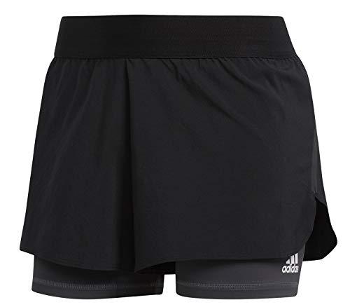 adidas Ask 2In1 Short Pantaloncini Sportivi, Donna, Black/Black/White, XS