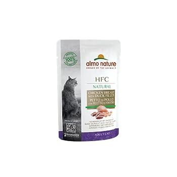 Almo Nature HFC Raw Pack Sachet de Nourriture Humide pour Chat – Poitrine de Poulet et Filet de Canard (Lot de 24 x 55 g)