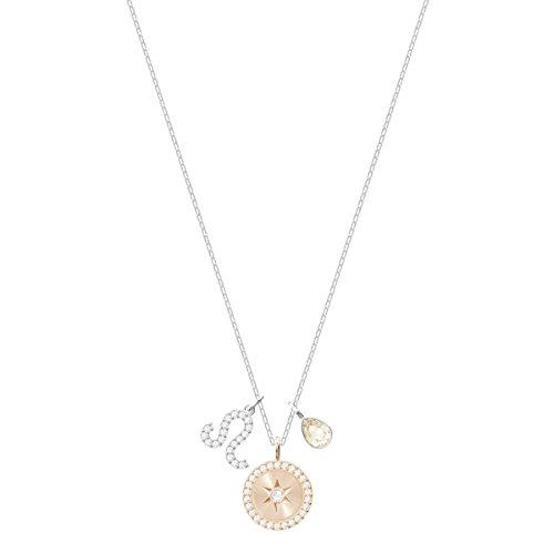 Swarovski Damen Löwe Zodiac Anhänger für Frauen, weißes Kristall, rhodiniert 5293512