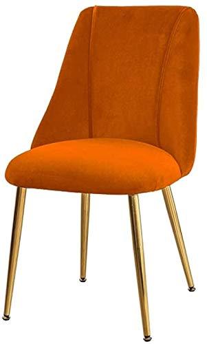 Nbpls Silla Simple Estudiante Escritorio y Silla Maquillaje Computadora Taburete Volver Inicio Silla de Comedor (Color : Orange)
