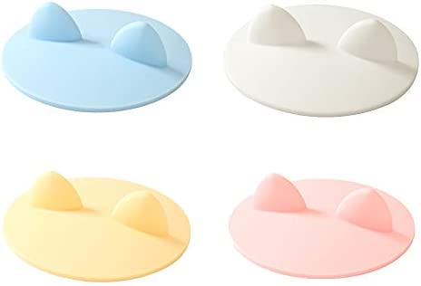 4 Pack Cute Cat Ear Silicone Cup Cover Reusable Anti Dust Food Grade Rubber Drink Glass Cup product image