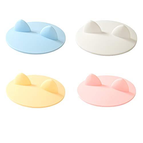Paquete de 4 tapas de silicona para taza, 4 pulgadas, anti-polvo, reutilizable, de goma, para taza de café, taza de café, tapa de sello