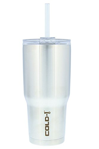 Reduce Tumbler, 34 oz – Reduce Stainless Steel Tumbler With Lid and Straw, 24 Hours Cold – Sweatproof Body, Cupholder Friendly, Perfect for Water and Coffee – Stainless Steel