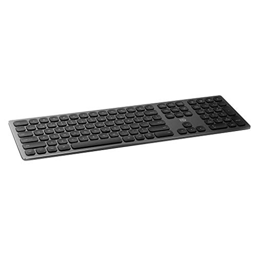 Haojiechunxiang Bluetooth drahtlose Tastatur Multimode-Metall Notebook Apple Tablet Handy Android Business-Tastatur,A