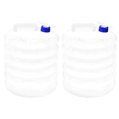 RiToEasysports 2 PCS Cubo de Agua 15L PE Contenedor de Agua Plegable...