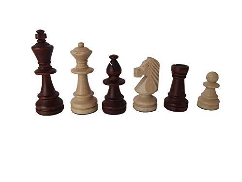ROMBOL Schachfiguren 'Richard' (KH 96), Staunton Design, Holz (Ahorn), gewichtet, im Polybeutelbeutel