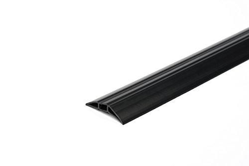 EHA 44021 PVC Kabelbrücke Toploader, 62 mm breit, 1 m Set inklusiv Klebeband, schwarz
