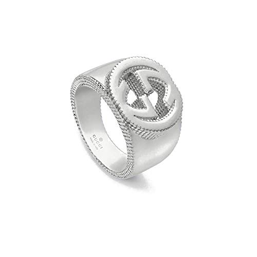 Gucci interlocking zilveren ring 8 3/4 (usa)- r(uk) ybc479229001019