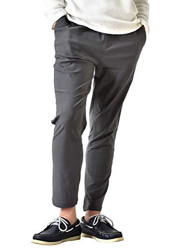 (アローナ)ARONA WARMスーパーストレッチチノパン 暖か 裏起毛 ストレッチパンツ メンズ 防寒 パンツ 冬 イージーパンツ ゴルフ ゴルフパンツ/YC 9分丈Bグレー L