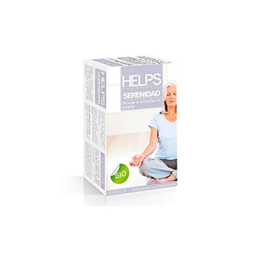 HELPS INFUSIES - Ecologische ontspannende infusie van Melissa en Rooibos. Ontspan thee voor een betere nachtrust. Helps sereniteit. Doos met 20 zakjes.