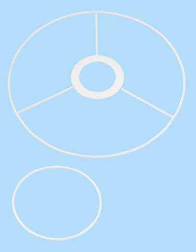 CREApop® Drahtgestell f. Lampenschirm 20 u. 10 cm Durchmesser, E 27