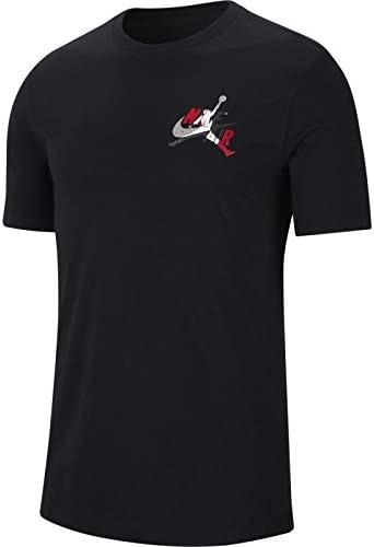 Nike Jordan Air Camiseta Hombre Básica Negra